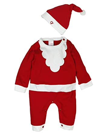 113044c31752 Popees Baby Care Kids Cotton Warm Christmas Dress/Santa Claus Dress/ & Cap (