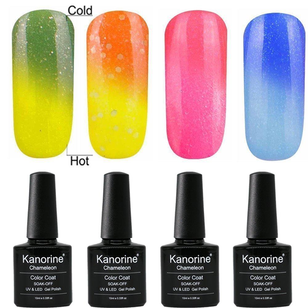 Kanorine® Base Coat + No-Wipe Top Coat Kit Set Vernis Semi Permanent Soak Off UV LED SET Gel UV Vernis à Ongles 2pcs x 10ml /Set