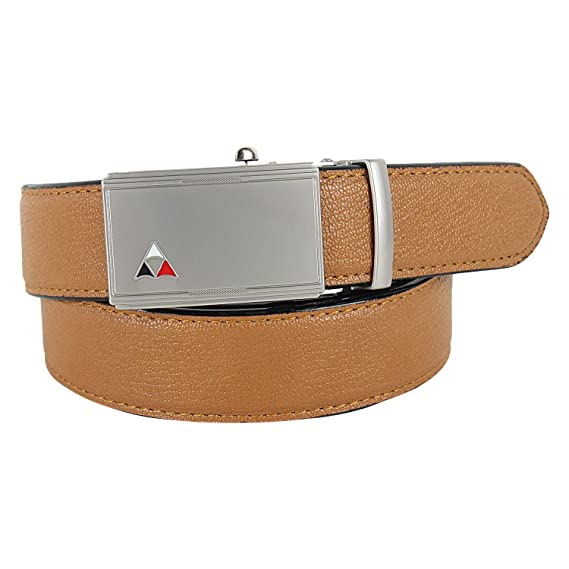71e34eb9caaca Pontos Men's Vegan Leather Belt with Auto Lock Alloy Buckle: Amazon.in:  Clothing & Accessories