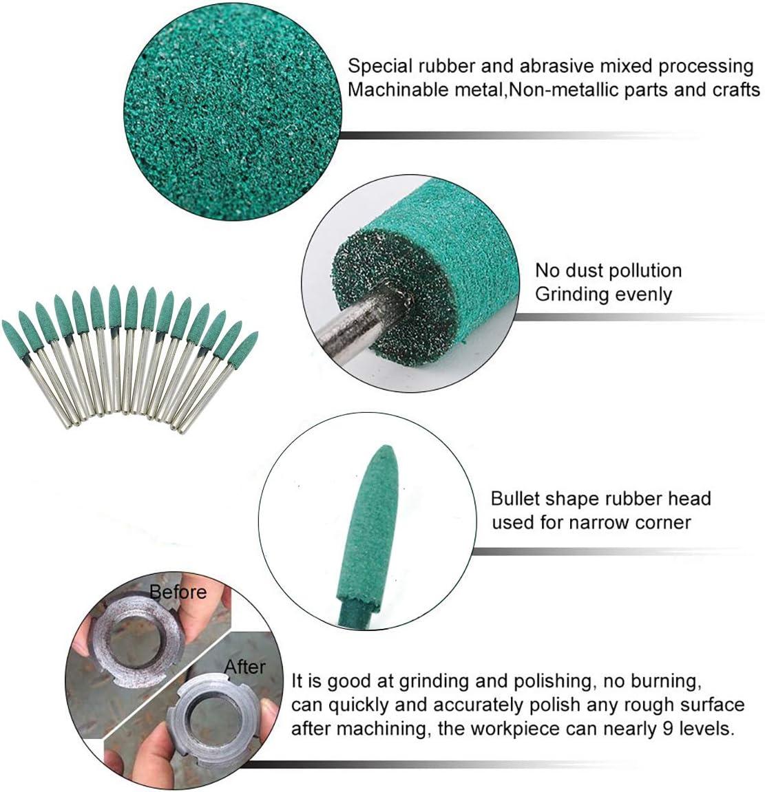 "1//8/"" Shank Abrasive Buffing Grind Head Brush Polishing Rotary Tool 40Pcs 25mm"