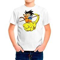 DibuNaif Camiseta Niño, Unisex Goku - Dragon Ball, Bola de Dragón
