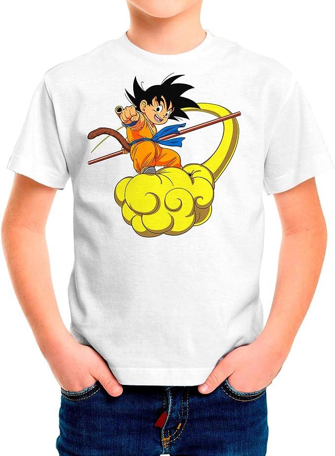 DibuNaif Camiseta Niño, Unisex Goku - Dragon Ball, Bola de Dragón: Amazon.es: Ropa y accesorios