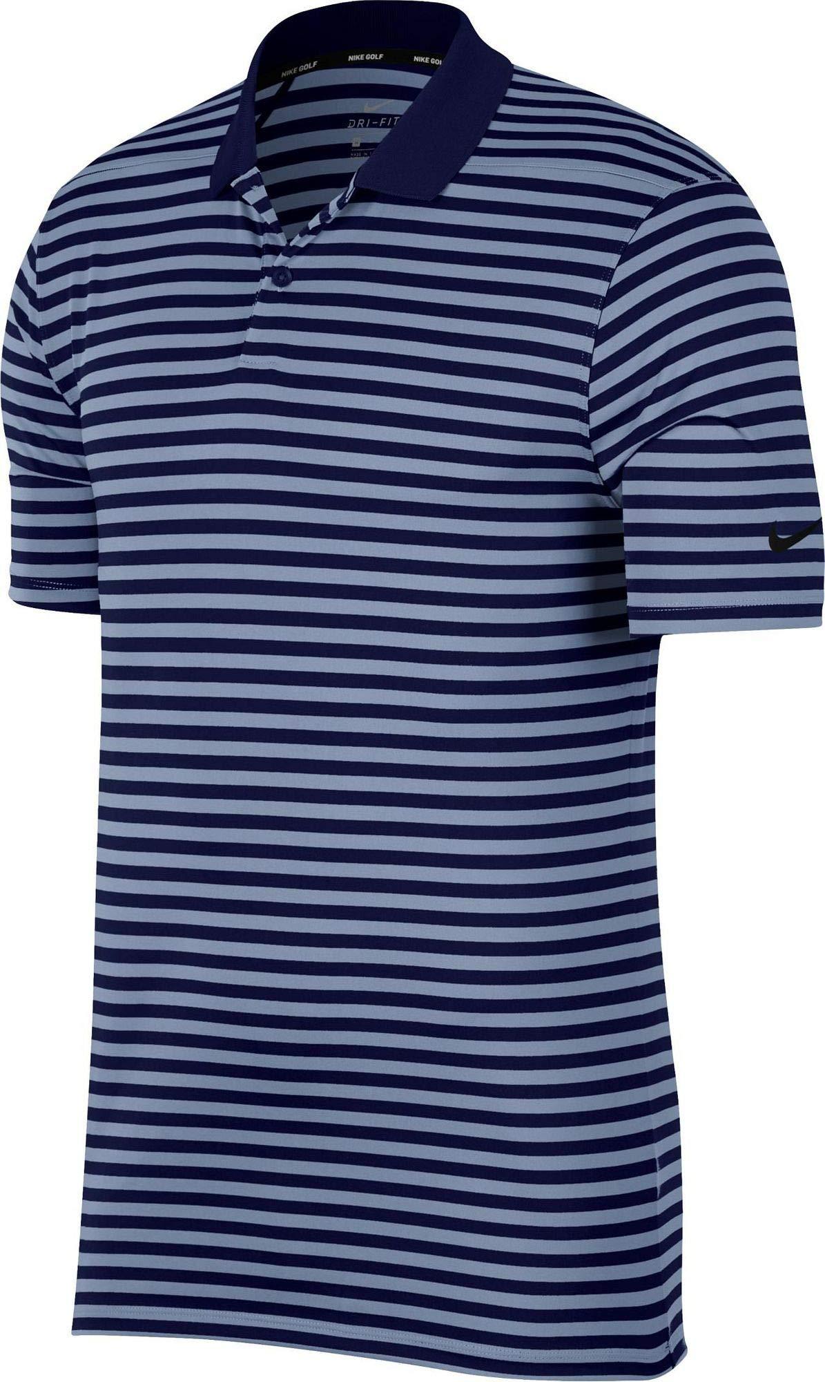 Nike Dri Fit Victory Stripe Golf Polo 2019 Blue Void/Indigo Fog/Black Small by Nike (Image #1)