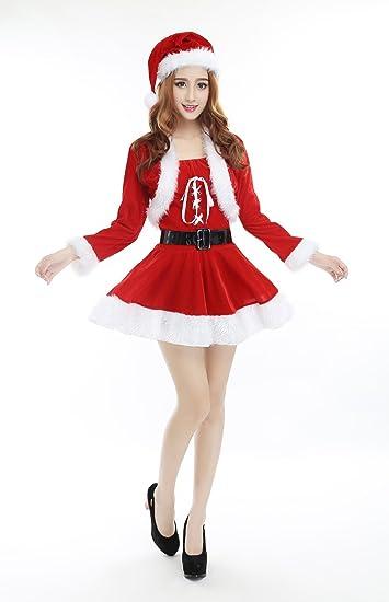 Frauen Weihnachtskostüme Niedlichen Weihnachtsmann Kleider Red Stage ...