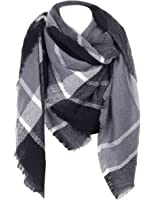 Cozy Checked Plaid Blanket Scarf - Soul Young Tartan Stylish Cape Wrap Shawl for Women and Men