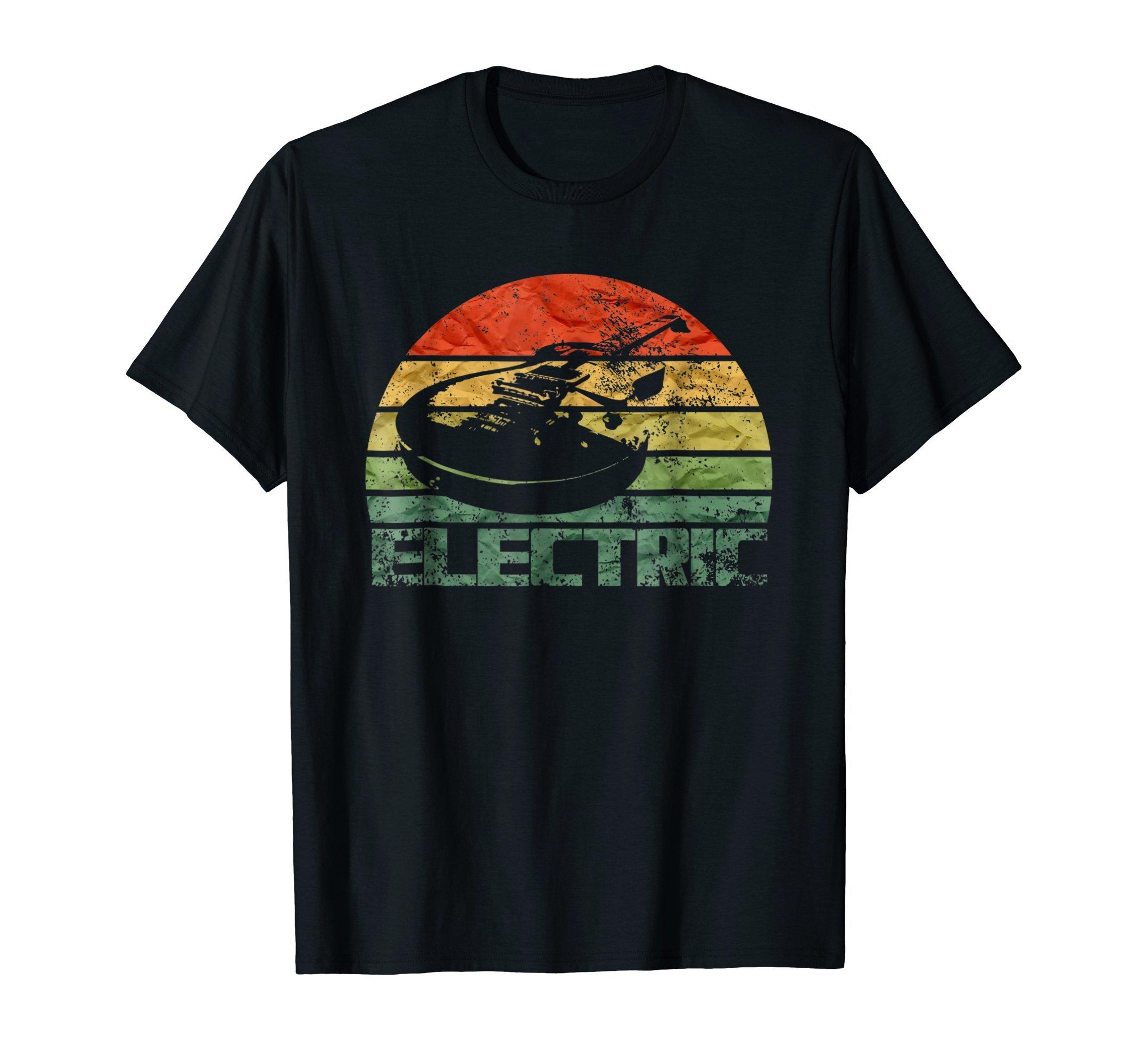 Vintage Electric Guitar T-Shirt Guitar Silhouette Shirt