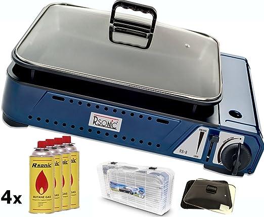 Windschutz Für Gasgrill : Rsonic deluxe tragbarer gasgrill rs mit grillpfanne mit