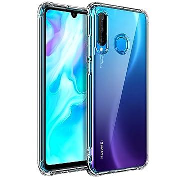 AINOYA Funda Carcasa Gel para Huawei P30 Lite, Ultra Fina, Soft TPU de Impactos y Anti-Arañazos Espalda Case Cover para Huawei P30 Lite - Transparente