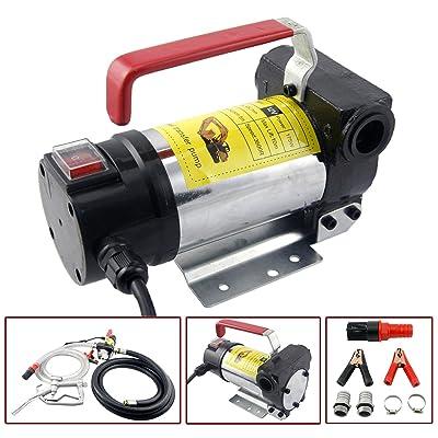 Orion Motor Tech Diesel Transfer Pump Kit 12V Volt DC Fuel Self Priming Oil 45L Per Minute with Hose: Automotive