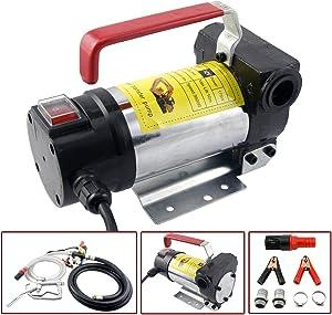Orion Motor Tech Diesel Transfer Pump Kit 12V Volt DC Fuel Self Priming Oil 45L Per Minute with Hose