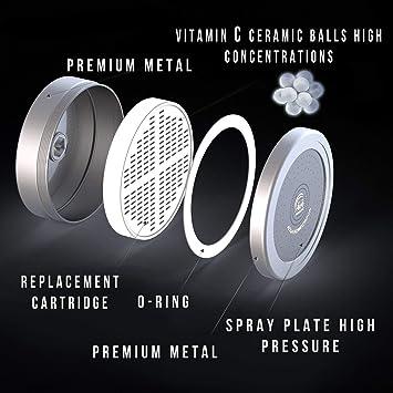 Filtro de ducha de 12 etapas purificador de agua dura elimina bacterias, virus, cloro y metales pesados mejora tu cabello y piel. Filtro universal de alcachofa de ducha de alta salida: Amazon.es: