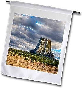 3dRose Danita Delimont - Wyoming - Wyoming, Devils Tower National Monument - 12 x 18 inch Garden Flag (fl_315235_1)