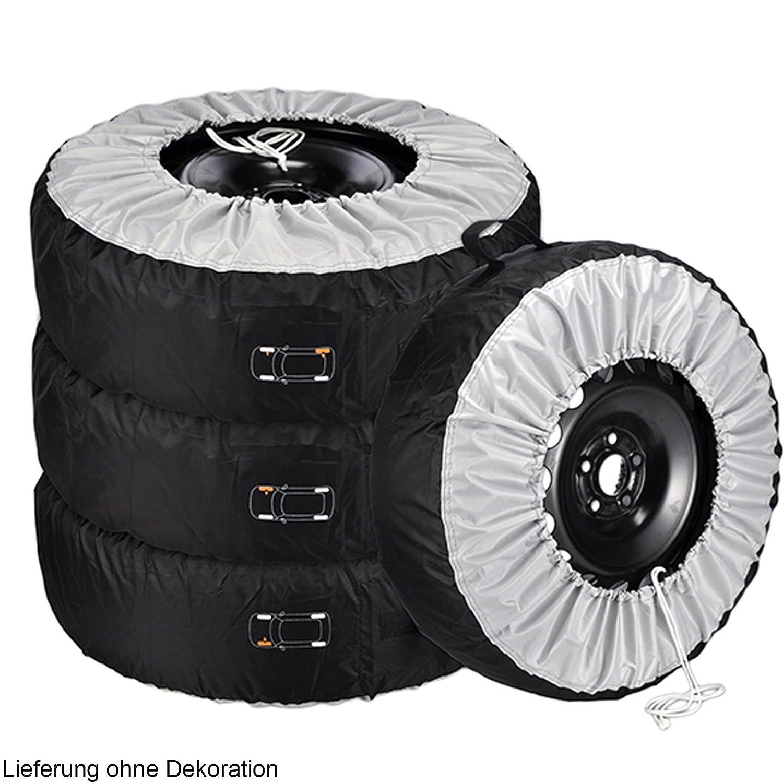Schutzhü lle fü r Autoreifen 4er Set mit Aufdruck fü r Reifenmarkierung Haushalt International