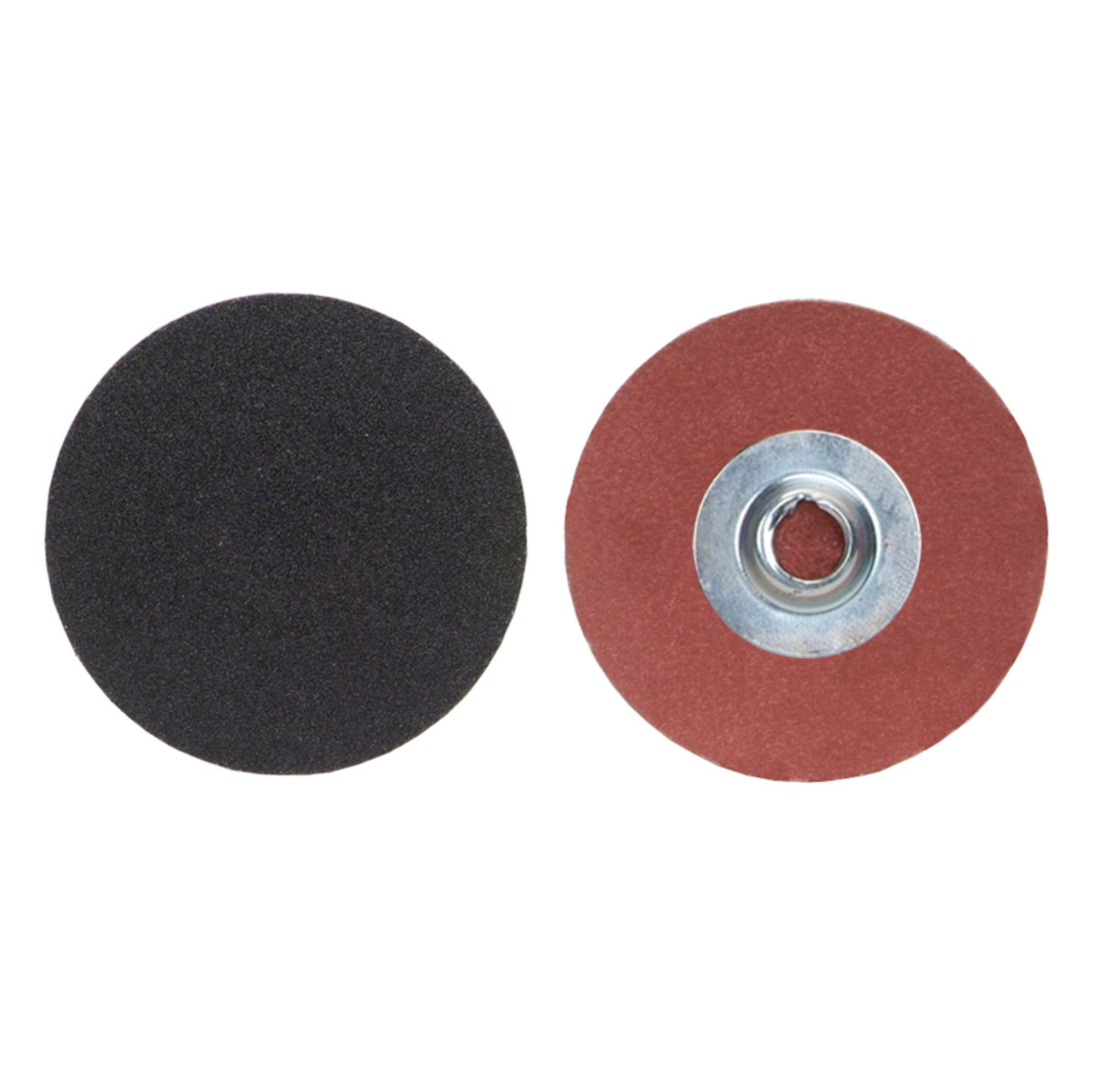 Merit PowerLock Abrasive Disc, Cloth Backing, Type II, Silicon Carbide, 2'' Diameter, Grit 60 (Box of 100) by Merit