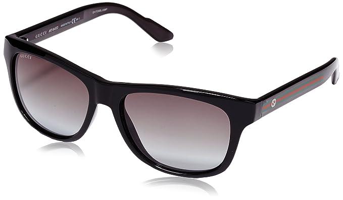 a502476db1 Gucci Dos Tono Wayfarer anteojos de sol en negro GG 3709/S IMX Gris ...