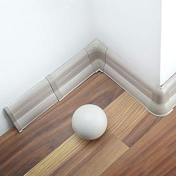 20 Meter Sockelleisten 55mm PVC Calisto Laminatleisten Fussleisten aus Kunststoff PVC Laminat Dekore Fu/ßleisten DQ-PP