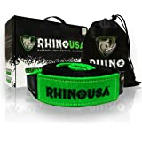 """RHINO USA Recovery Tow Strap 3"""" x 20ft - Lab Tested 31,518lb Break Strength - Heavy Duty Draw String bag Included - Triple Reinforced Loop End to Ensure Peace of Mind - Emergency Off Road Towing Rope"""