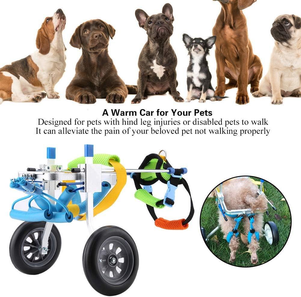 Haustier-Rollstuhl Verstellbarer Hunderollstuhl f/ür behinderte Haustiere Haustier-Rollstuhl f/ür Erwachsene Beine f/ür Katzen-Welpen Aluminiumlegierung