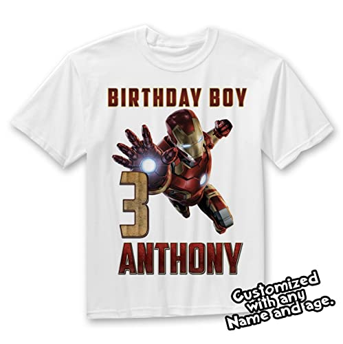 Iron Man Marvel Birthday Personalized T Shirt Family Shirts