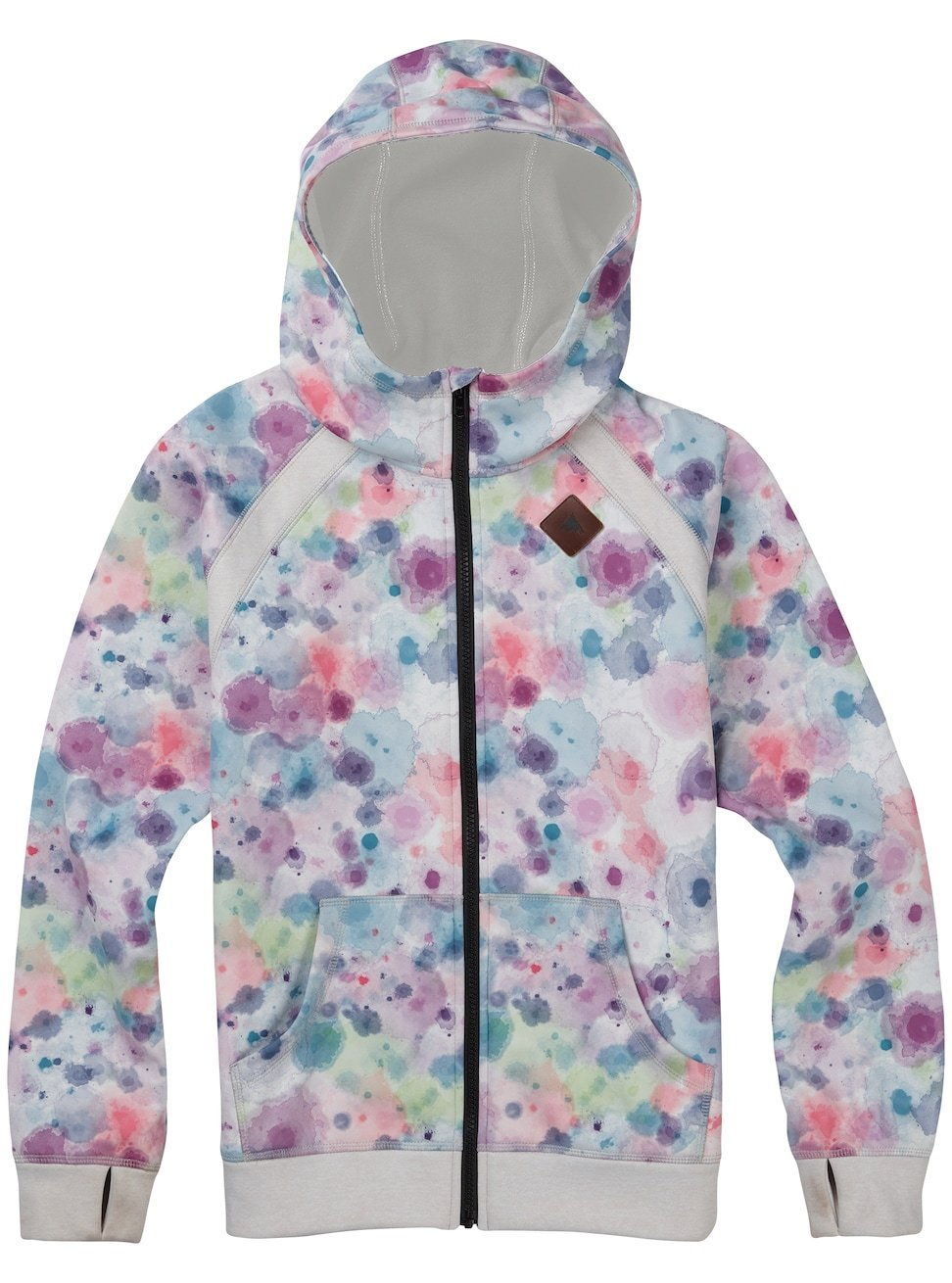 Burton Girls Youth Scoop Full Zip Hoodie Drip Dye Size Large by Burton