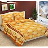 Fabture Fleece Warm Double bedsheet with Pillow Covers for Winters,