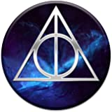 Deathly Symbol Hallows Triangle 2 Sticker Set for Pop Grip Stent for Phones and Tablets (