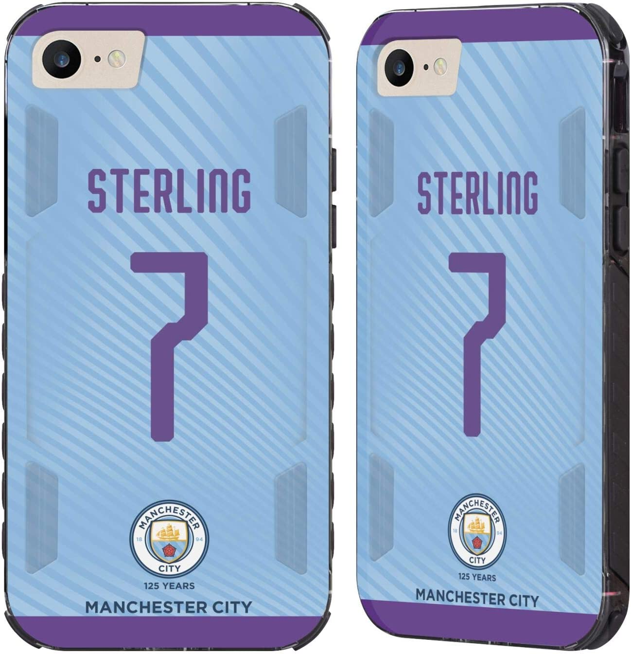 Head Case Designs Officially Licensed Manchester City Man City FC Raheem Sterling 2019/20 Players Home Kit Group 1 Black Evolution Case Compatible with Apple iPhone 7 / iPhone 8 / iPhone SE 2020