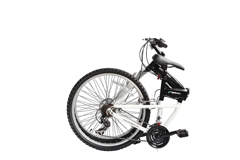 ECOSMO 26AF18BL - Bicicleta plegable con ruedas de 26