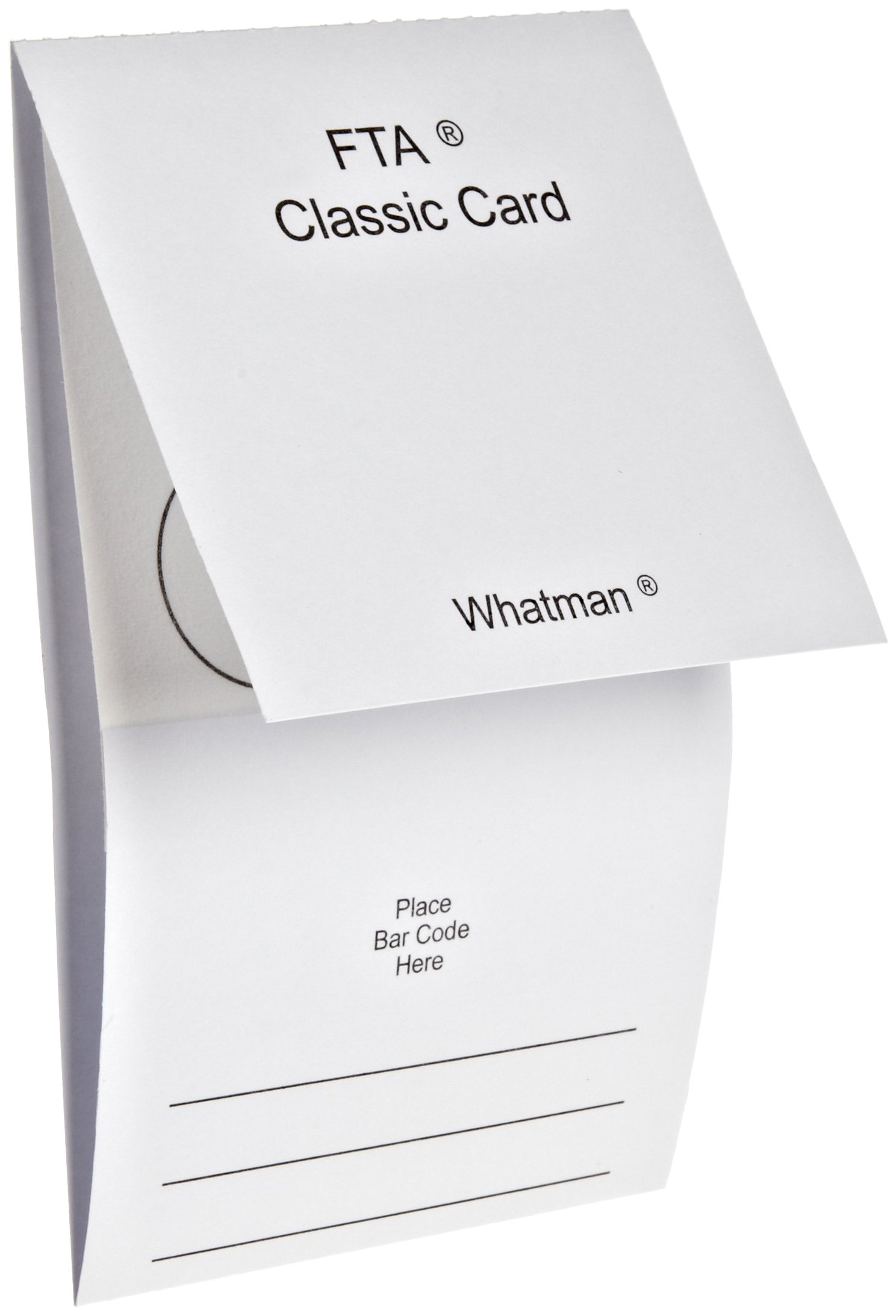 Whatman WB120205 FTA Classic Card 4-Sample Area, 4 x 125 microliter Size (Pack of 100)