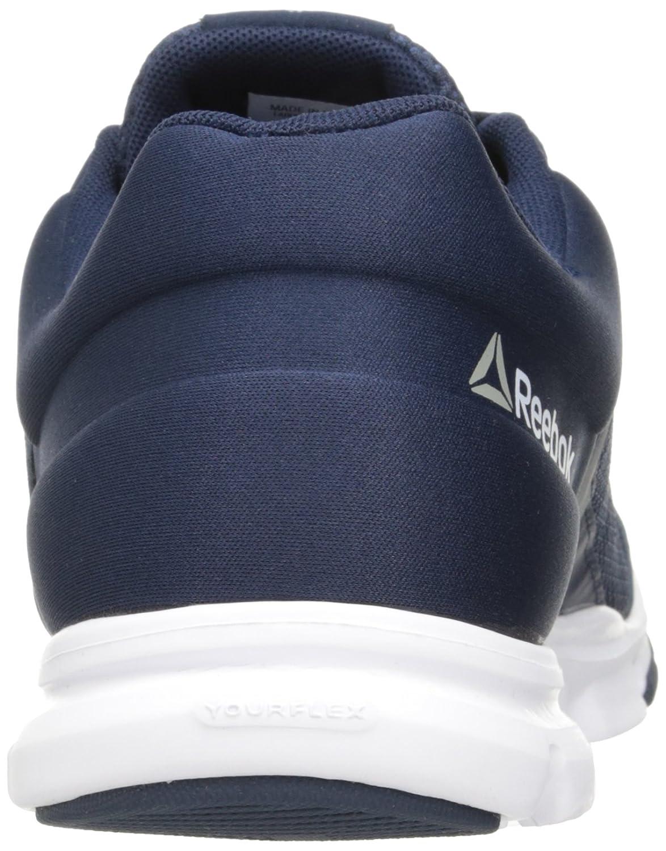6d9be8b84609b Zapatillas para correr Reebok Yourflex Train 9.0 MT para hombre Colegiado  de la Marina   Blanco   Plata Met