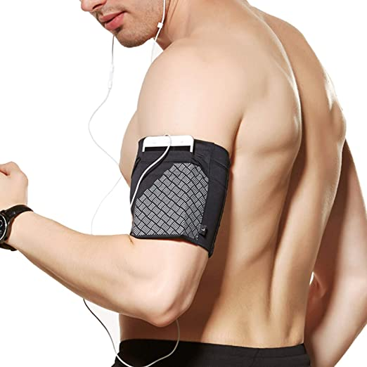 Amazon.com: Ailzos Sports Running Armband,Lightweight Arm Band Strap Holder  Pouch Comfortable Phone Armband Sleeve for Exercise Workout Fits iPhone  X/8/7 Plus/7/6,Samsung Galaxy S9/S8/S7,Sony,LG HTC,(Black,M)