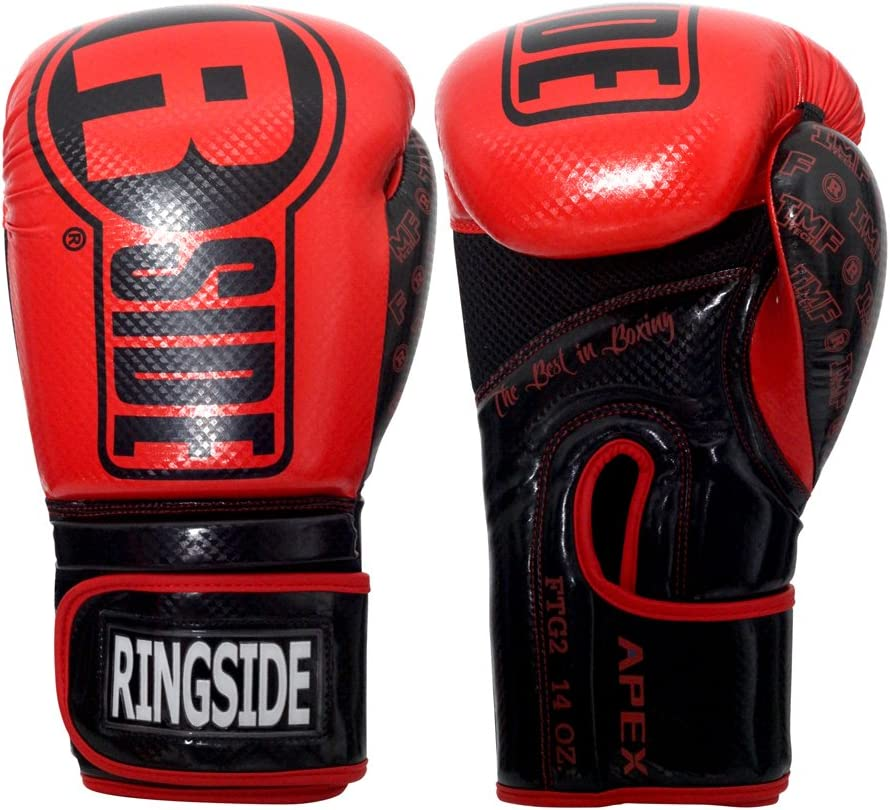 Ringside Apex Flash Boxing Training Sparring Gloves RD/BK, 14 oz