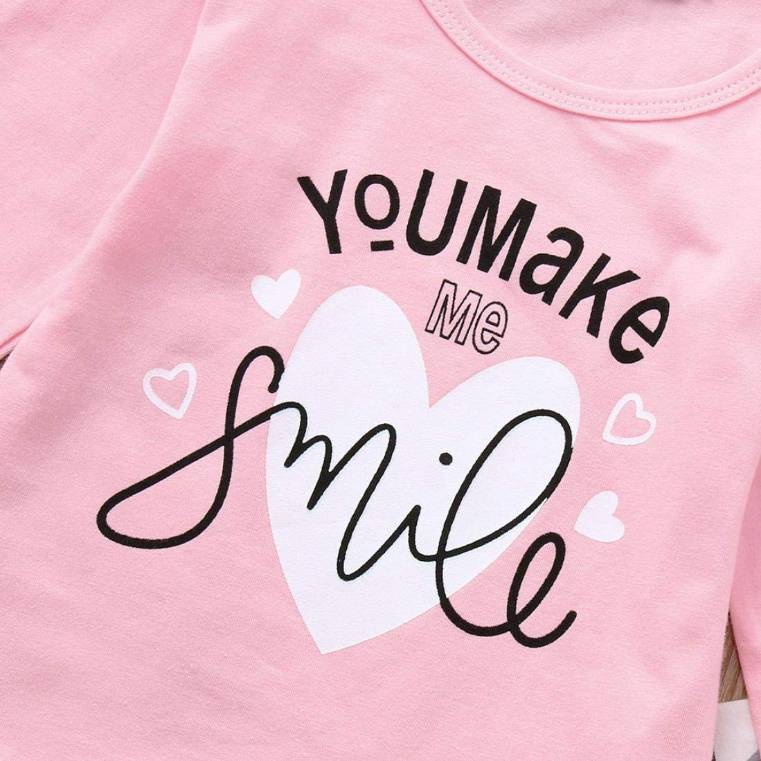 Baby Kids Outfits,Fineser Newborn Toddler Infant Baby Girls Letter Print Tops+Geometric Pants+Headbands Outfits 3 Sets