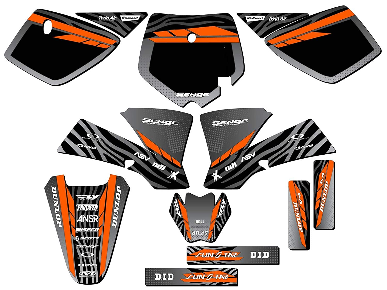 Tigre Black CUSTOM Complete Senge Graphics Kit Compatible with KTM 2002-2008 SX 50