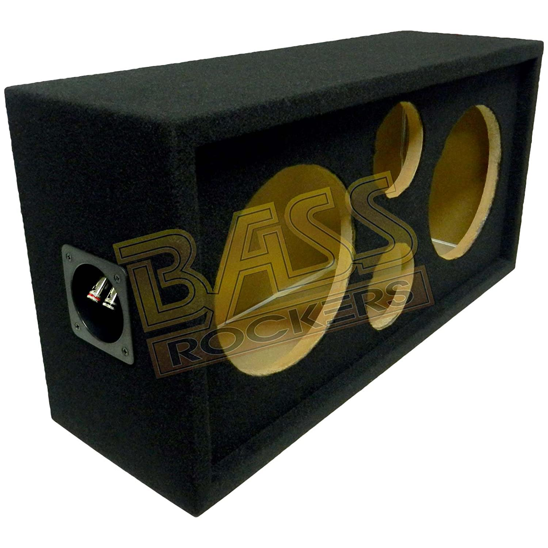 Bass Rockers 2x2 スピーカーポッド 10インチ/4インチ スプリングターミナル付きエンクロージャーボックス (カーペット仕上げ)   B074KNB25Z