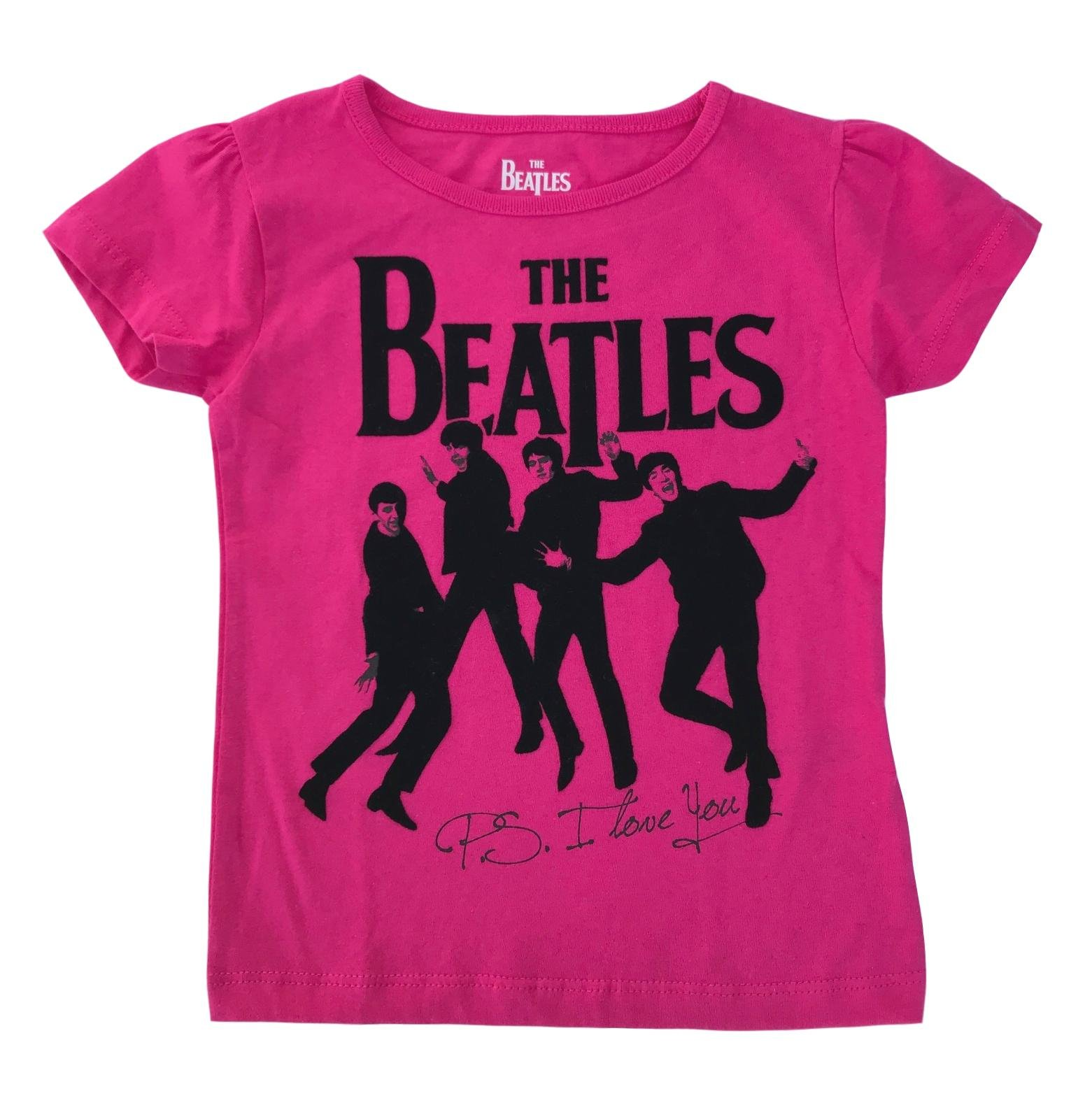 The Beatles P.S. I Love You Toddler Girls T-Shirt (3T, Pink)