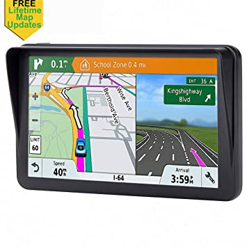 7 inches Car GPS, SatNav Navigation System for Cars Lifetime Map Updates on mapquest directions, get directions, driving directions, scale directions, compass directions, travel directions, traffic directions, giving directions,