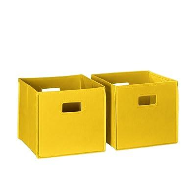 RiverRidge 2-Piece Folding Storage Bin Set, Yellow: Kitchen & Dining [5Bkhe1102557]