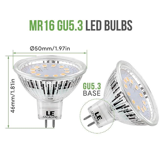 Gu5 Lighting Chaud12v De 35wLot Le DcacNon Ever Halogène Ampoules 5w 3 Led 3 DimmableEquivaut Blanc À 10 L'ampoule 280lmMr162700k BxoWCerd