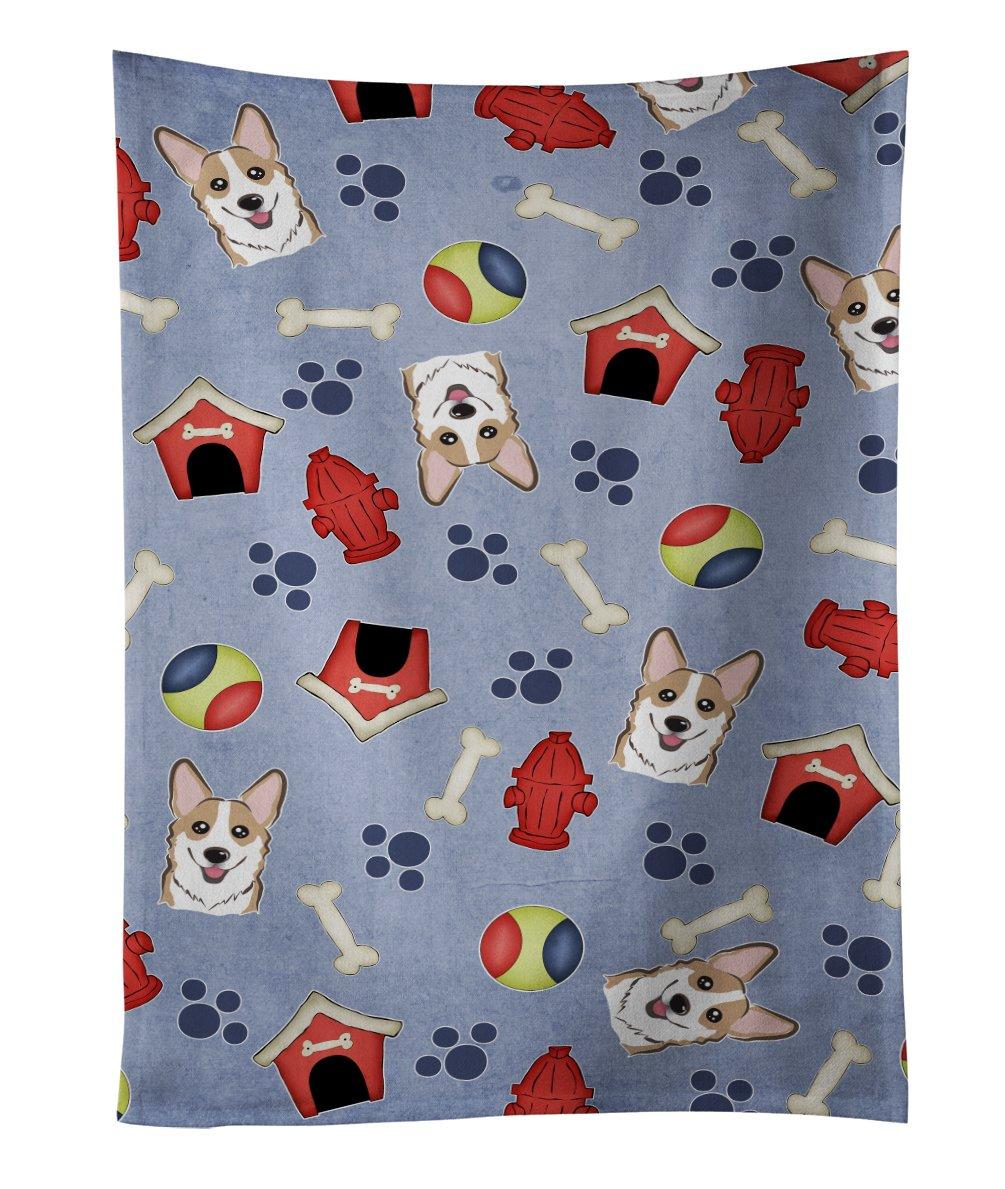 25 x 15 Multicolor Carolines Treasures BB4031KTWL Dog House Golden Retriever Kitchen Towel