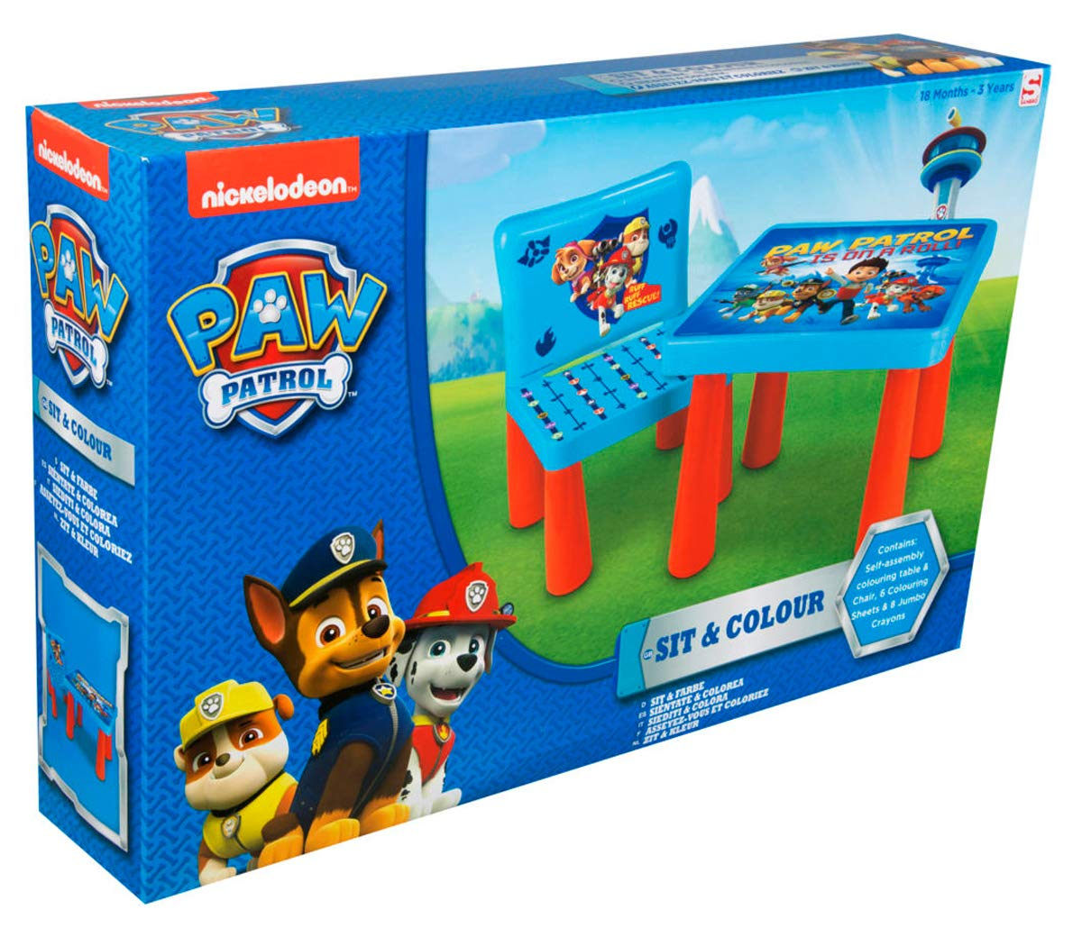 Paw Patrol Rubble Childrens Backpack With Creative Colouring Art Accessories Toy