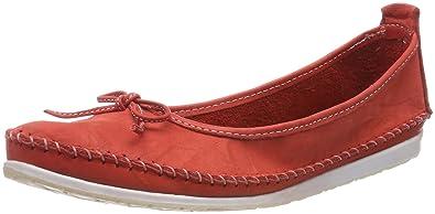 Andrea Conti Damen 0775704 Geschlossene Ballerinas, Rot (Rot), 41 EU