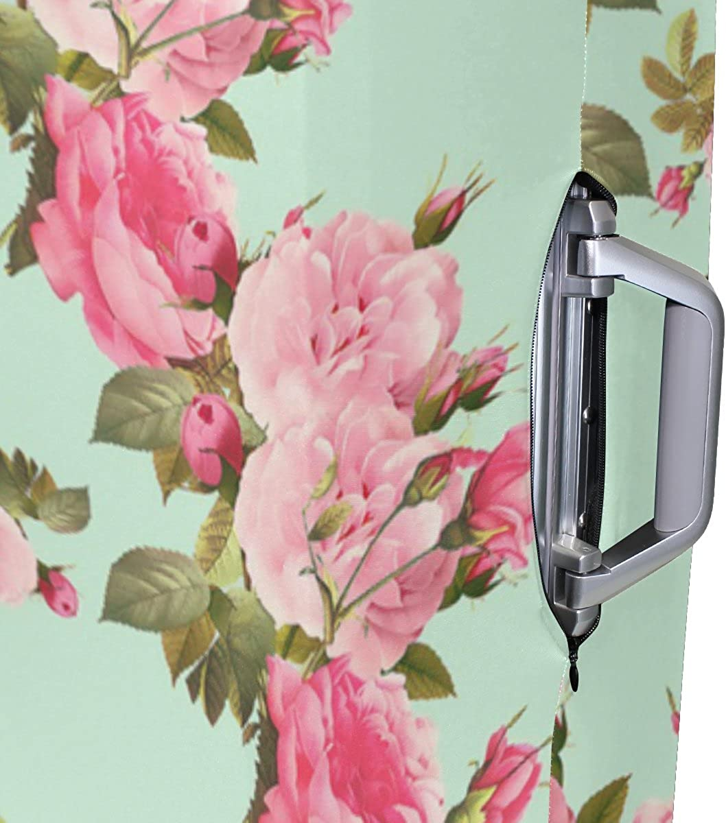 Abbylife Floral Flowers Luggage Cover Suitcase Protector Fits 18-20//22-24 Inch