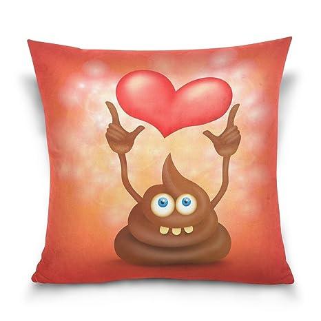 Use7 Funda de almohada decorativa, cuadrada, con diseño de ...