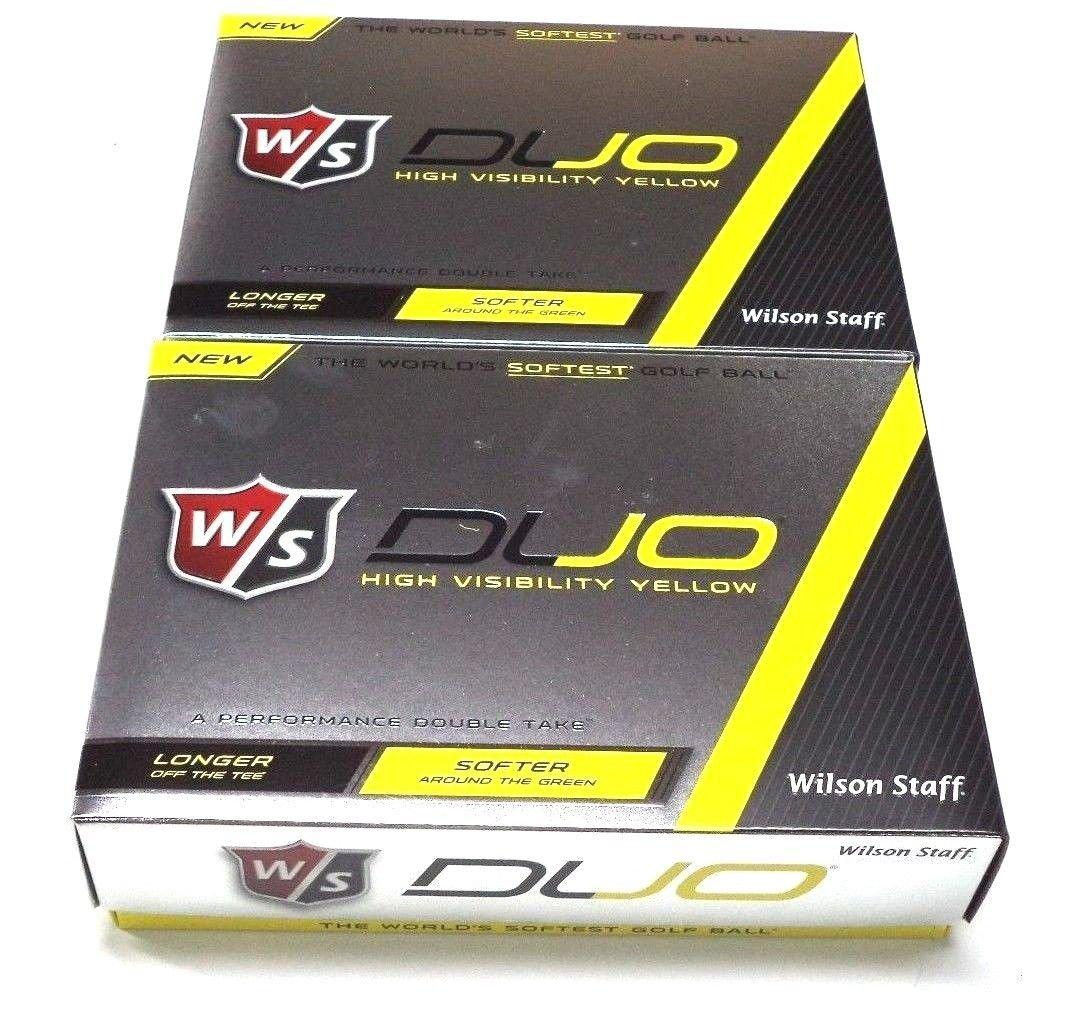 2015ウィルソンスタッフDuoゴルフボール、イエロー B00WA2KTB6  2