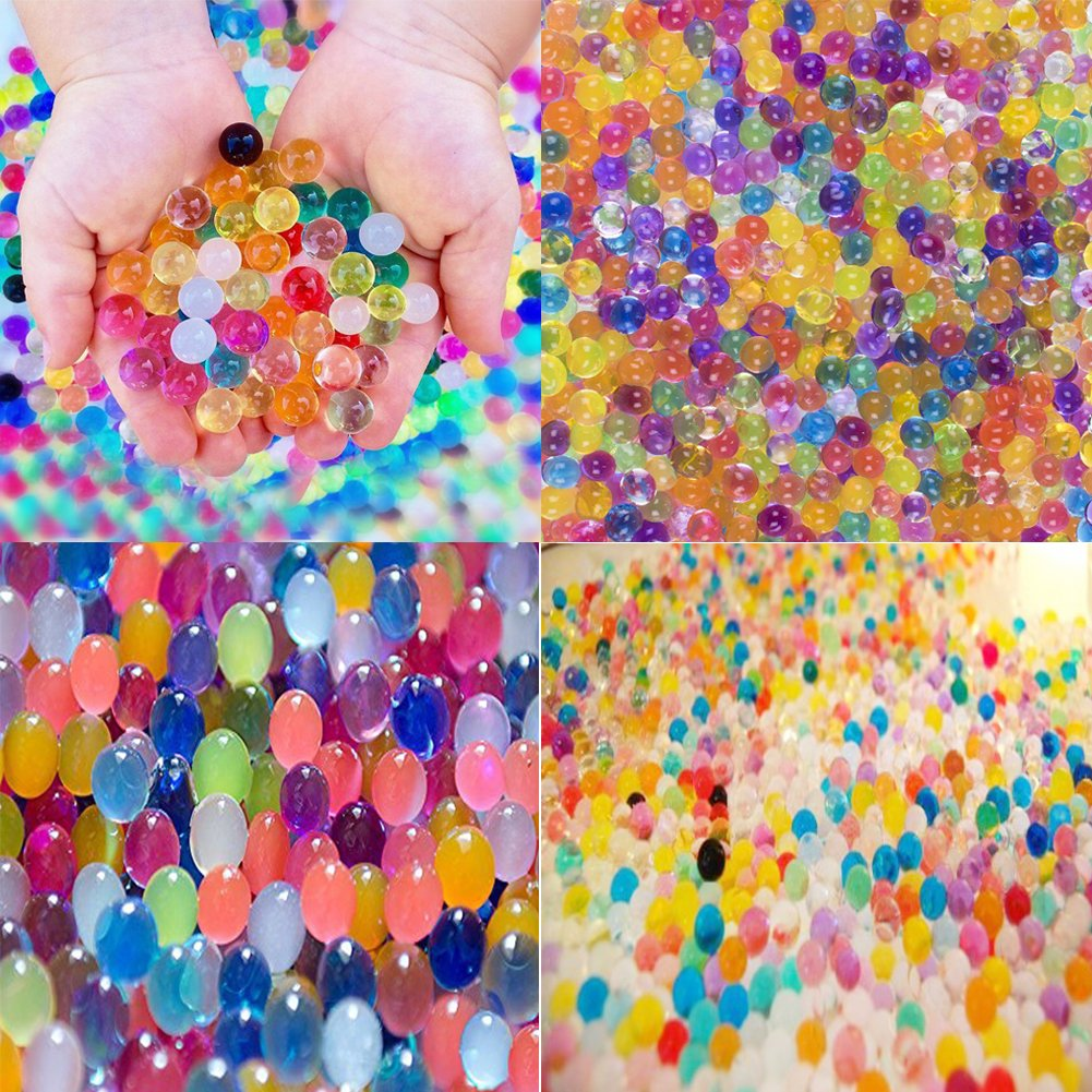 Water Beads Rainbow Mix (30,000 beads) for Orbeez Spa Refill, Sensory Toys and Décor(0.4'') CIKIShield