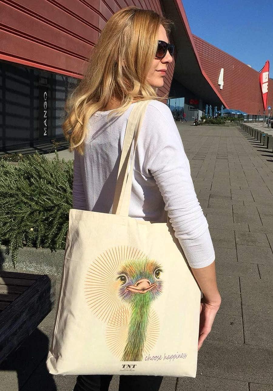 TNT Positive Style Tote bag Sac en toile Sac de courses femme grand Sac de coton reutilisable avec fond Imprim/é Sac en toile Sacs cabas Sac tissu Sac de plage Sac fourre-tout