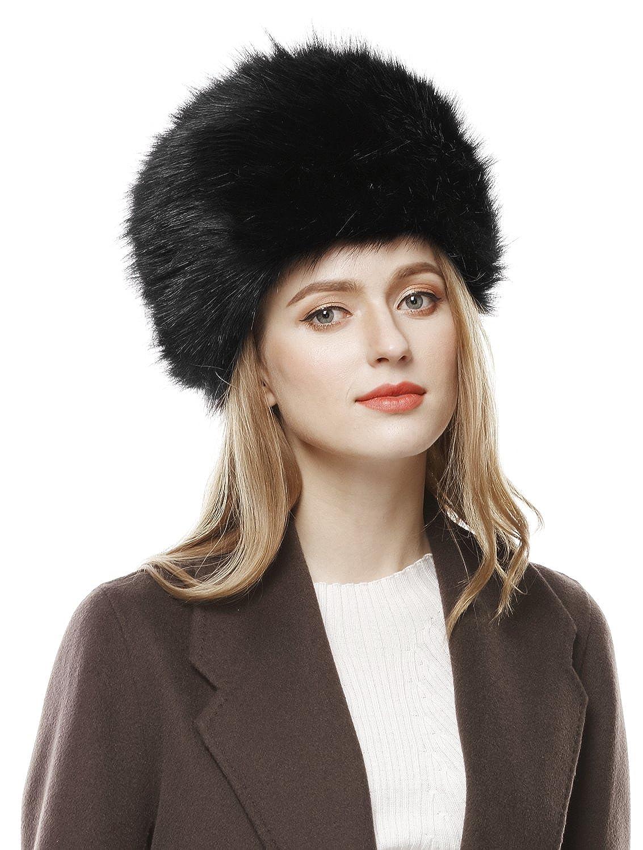 0d229cadcc9 Lovful Winter Women Faux Fur Russian Cossack Style Hat Winter Wrap ...