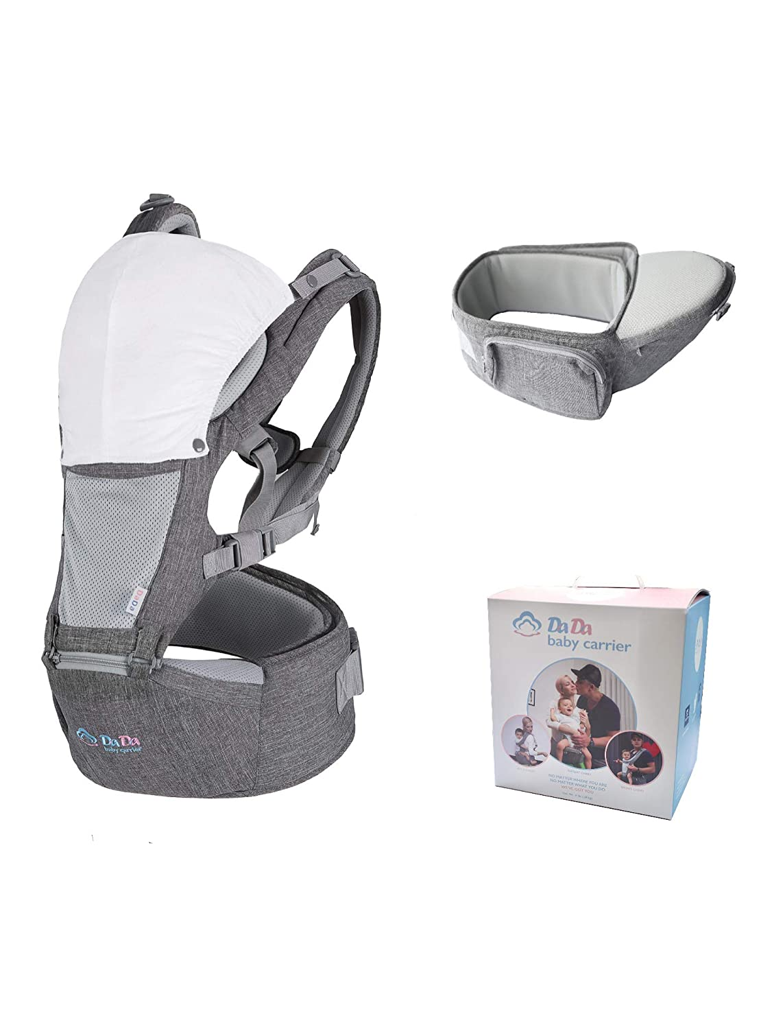 Toddler Baby Carrier Hip Seat, Front Facing Child Carrier