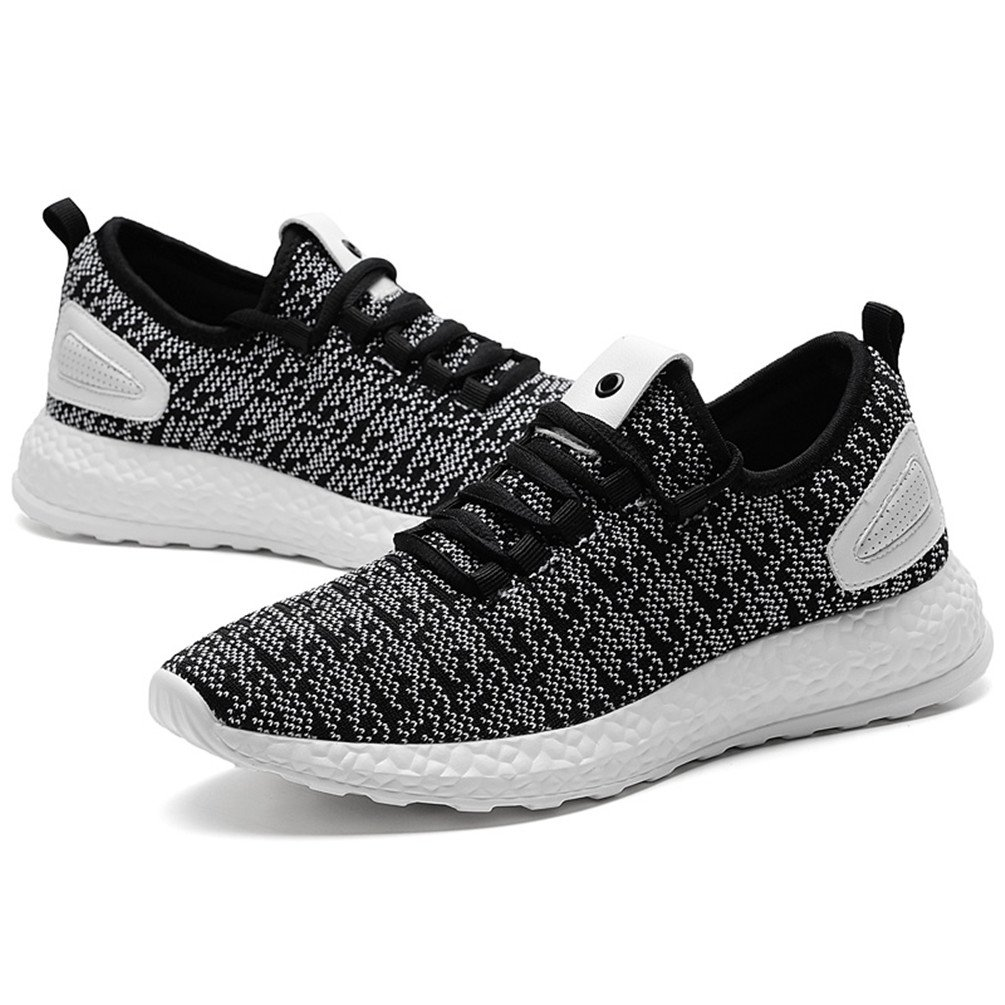 Sherry Love Women Sports Sneakers Running Shoes With Lightweight Breathable Comfortable and Soft Function-Black and White-41 EU